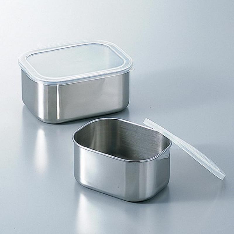 不锈钢罐/小型容器/不锈钢烧杯方形密封容器(深型)FREEZE SEALING CASEフリージング角シール容器