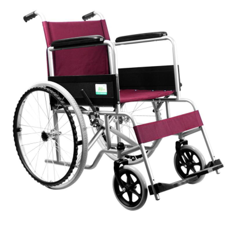 可孚逸动轮椅_钢管可折叠承重加厚