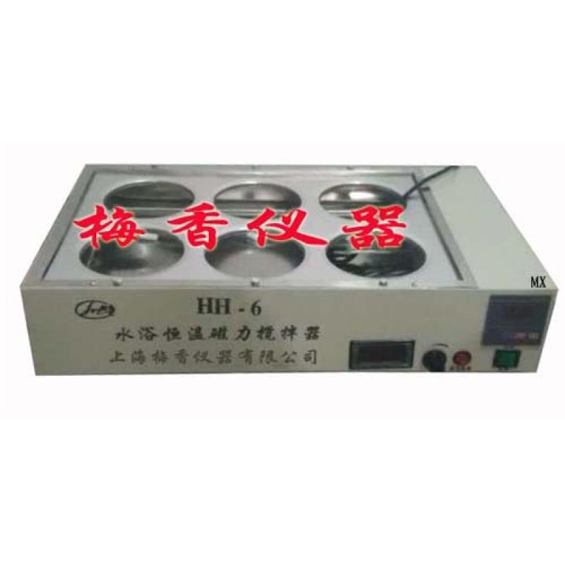 HH-S26数显双列六孔型恒温磁力搅拌水浴锅