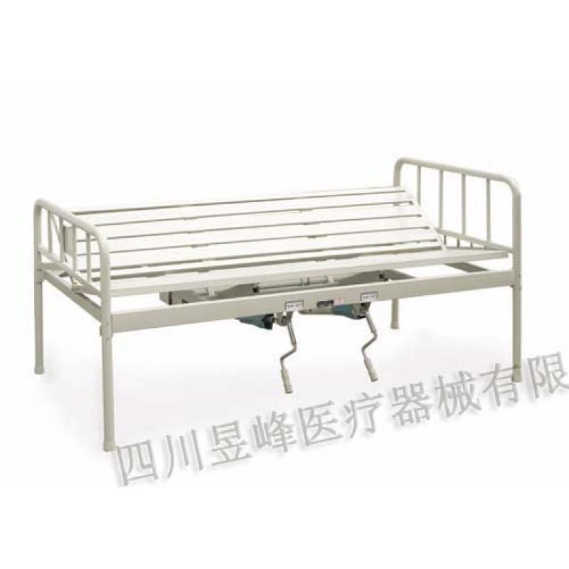 YC-019T手动双摇翻身病床Manually dual-rocking stand up bed