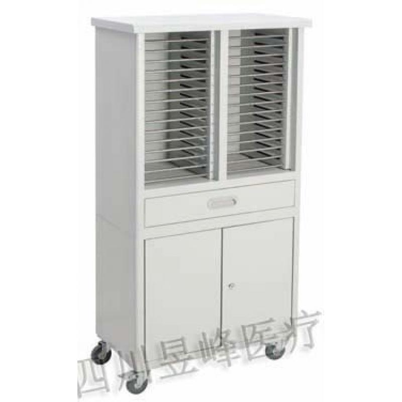 YT-033T病历夹推车30位带柜clinical folder cart(30 partitions)with cabinets