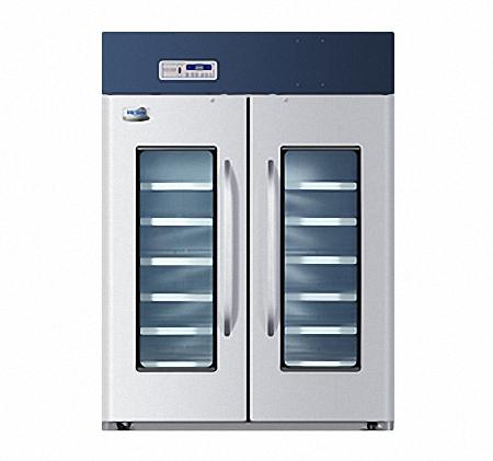 海尔2~8℃医用冷藏箱HYC-1378/立式1378L药品保存箱/双开门药品冷藏箱