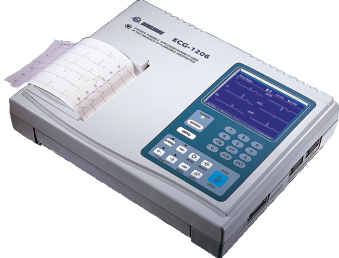 东江 ECG-1206数字式心电图机(六道)/5.1寸显示自动分析心电图机