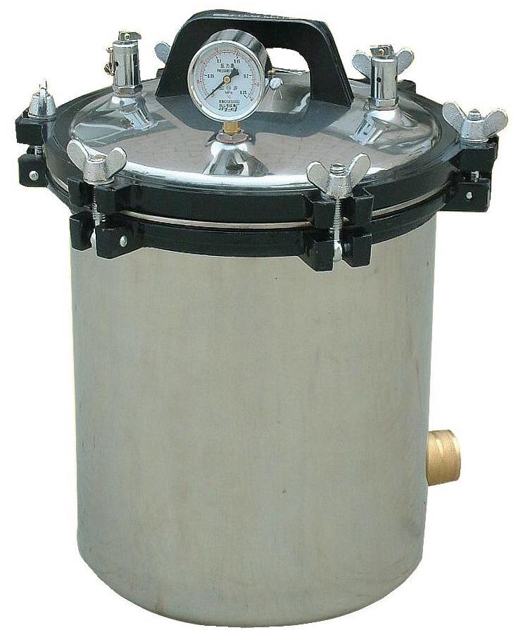 江阴滨江医疗手提式YX-18LM煤电俩用手提式高压蒸汽灭菌器厂家批发