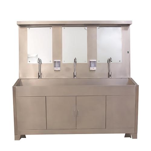 盛德 不锈钢洗手池(单人 双人 三人 四人) 医院洗手台刷手池 手术室洗手池