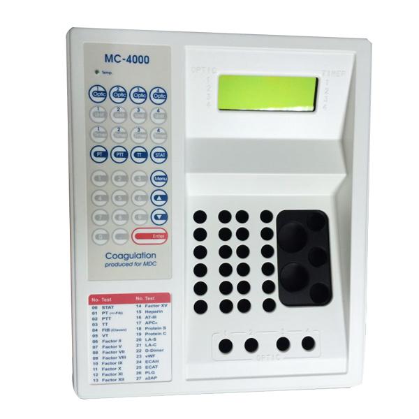 德国美创MC-4000四通道半自动凝血分析仪