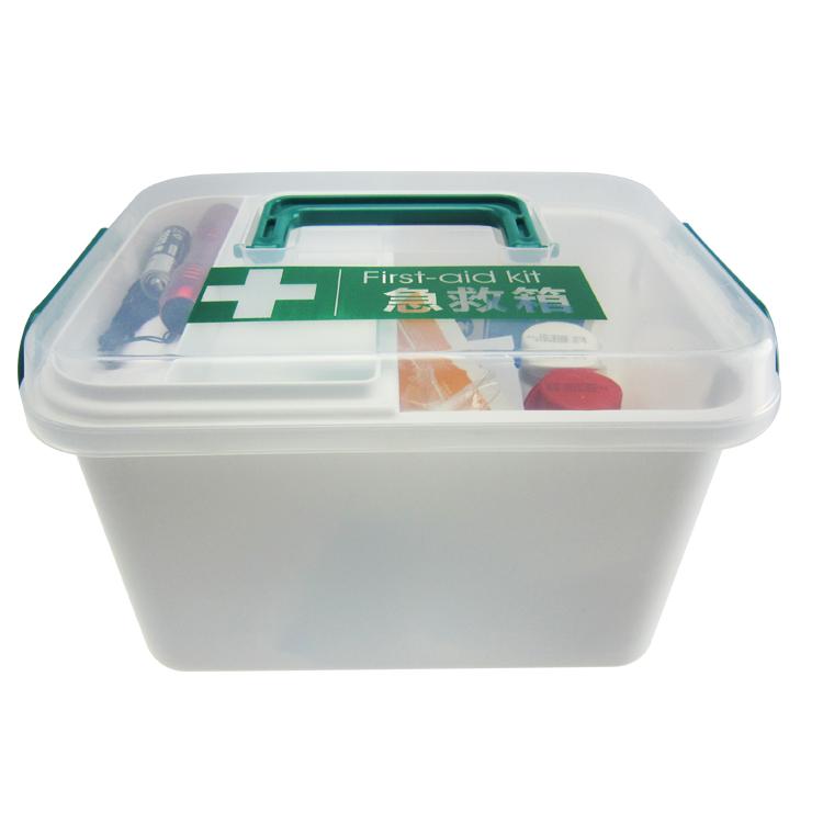 科洛JE-S-016A家用急救箱套装家庭医药箱环保塑料药品收纳箱批发