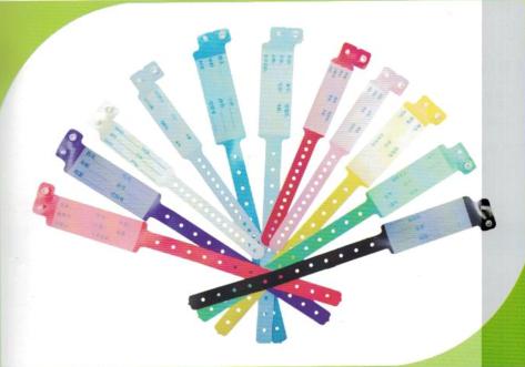 格利斯 PVC手写腕带  采用一次性的卡扣