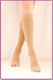 就尔  医疗静脉曲张弹力袜 一级中筒露趾\包趾