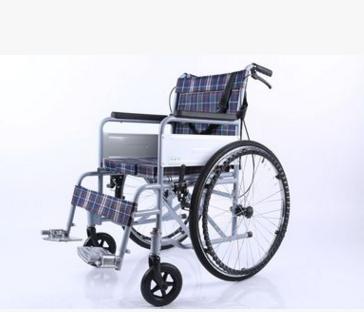 欣旺 普通喷涂座便四刹车一型手动轮椅/家用轮椅
