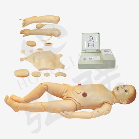 弘联GD/FT333三岁儿童护理模拟人 全科医生护理模型
