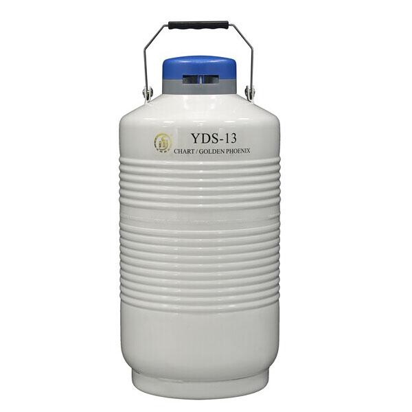金凤YDS-13 容积13L 口径50mm 贮存式液氮罐 含六个276mm高的提筒和保护套