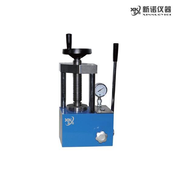 新诺 SYP-5B型手动粉末压片机 两柱 粉末压片机 5吨压片机 指针压力表