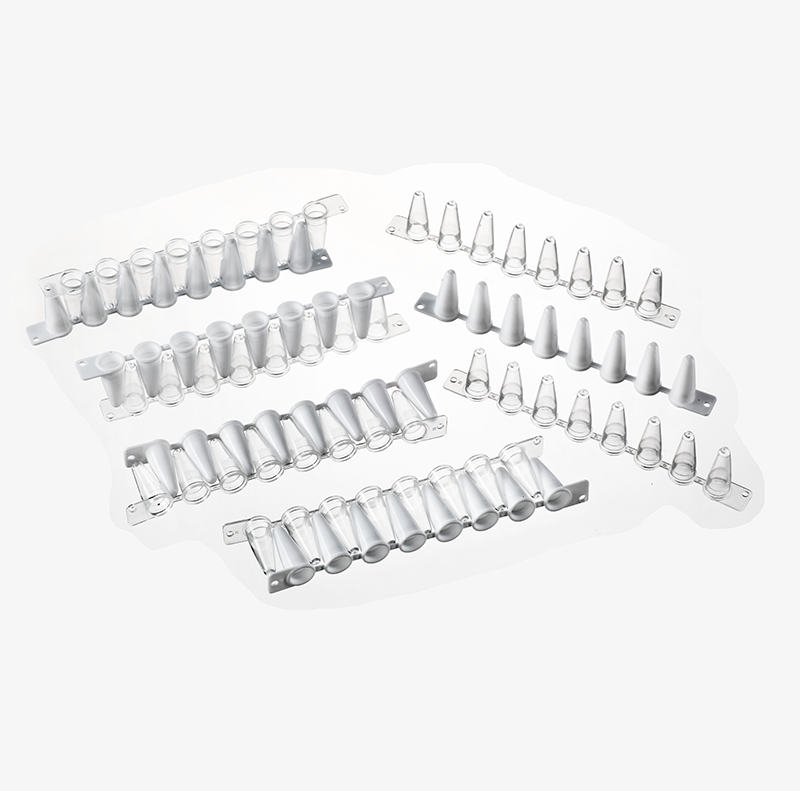 美国GCS进口 0.1ML 低型乳白色荧光定量PCR 8排管125条/盒 货号GCS-LW810T