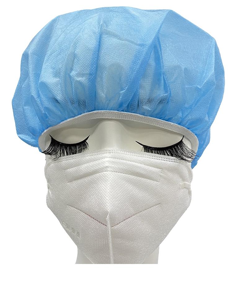 佰意 医用帽/一次性帽子医生帽头套手术卫生男女/蓝色白色可选