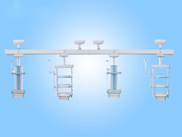邦健医疗 ICU吊桥YC-18三床共用干湿分离型连体吊桥  可选加旋转式照明灯型