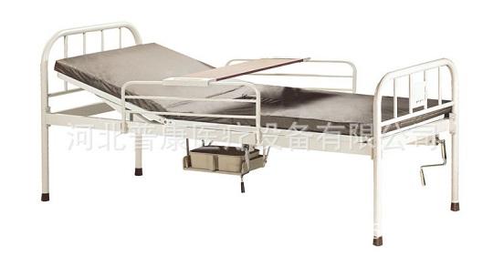 小护士家用手动单摇带厕护理床