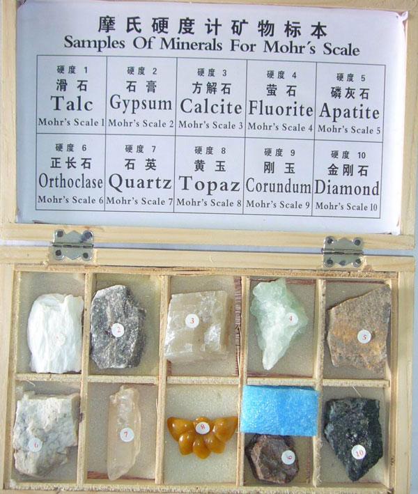 摩氏硬度计矿物标本(7种)