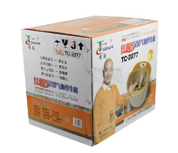 泰昌 TC-2077足浴盆 红泰昌7L振动功能