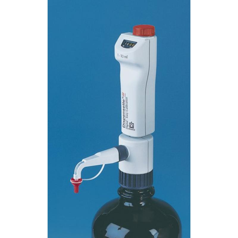 普兰德Brand Dispensette III 10-100ml标准型游标可调瓶口分液器 不含SafetyPrime安全回流阀