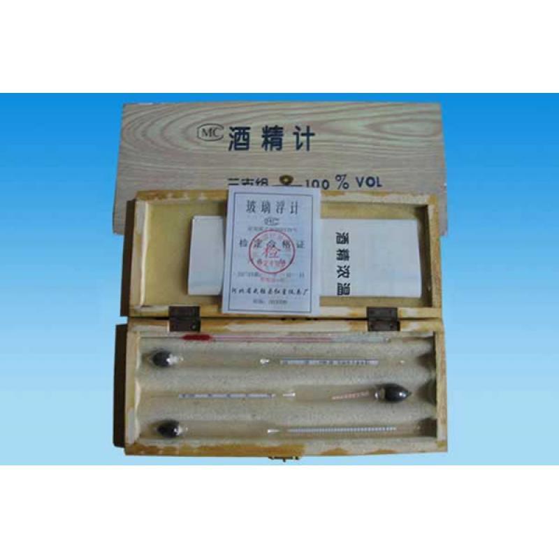 3支木盒装酒精计 准确度 1