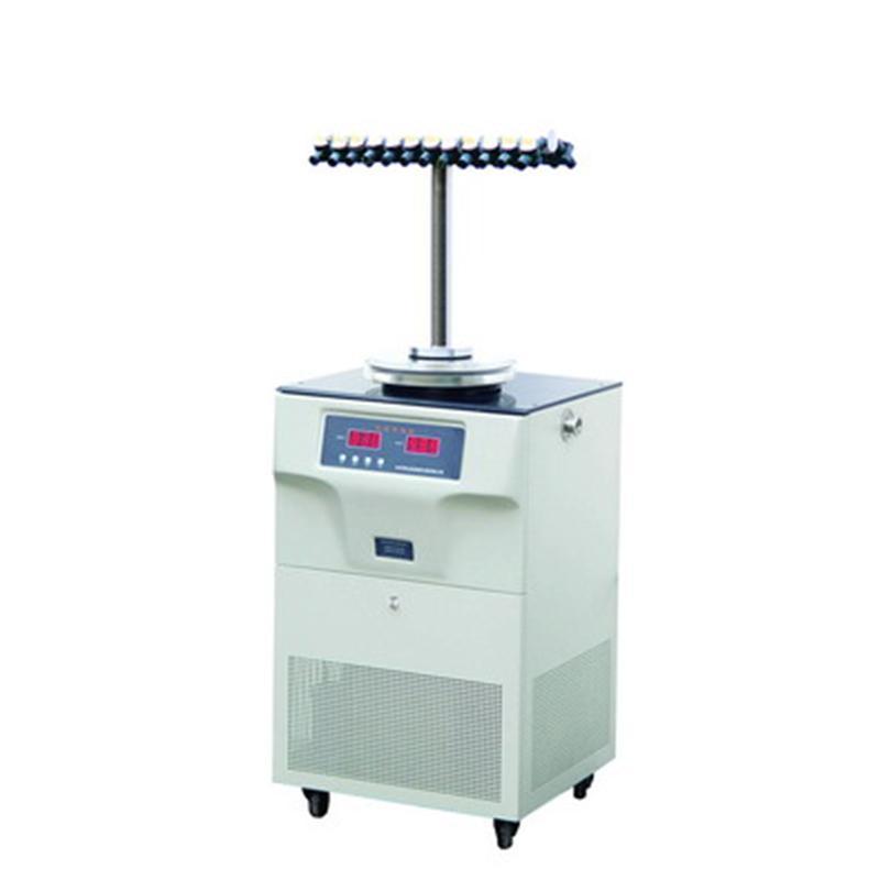 博医康FD-1E-80多歧管冷冻干燥机 T型架 -50℃ 冻干面积0.18㎡