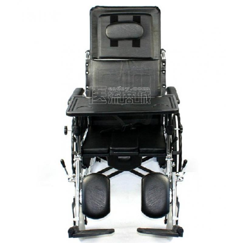 互邦HBG5-BFQ轮椅 高靠背可全躺 带防倾轮 带便桶