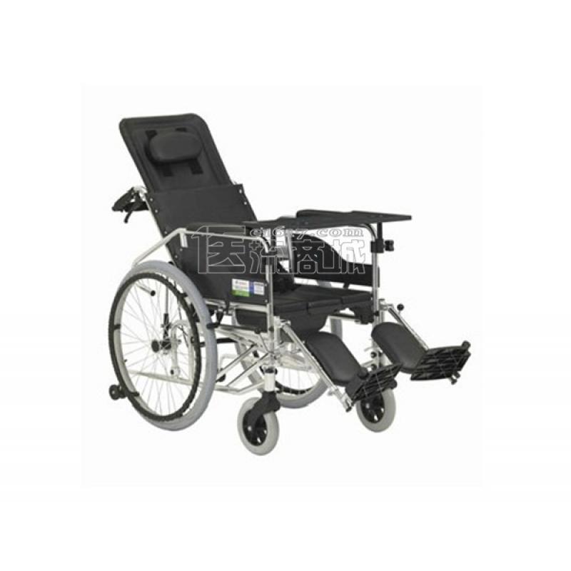互邦HBL10-BFQ轮椅 高靠背可全躺 带便桶 带防倾轮