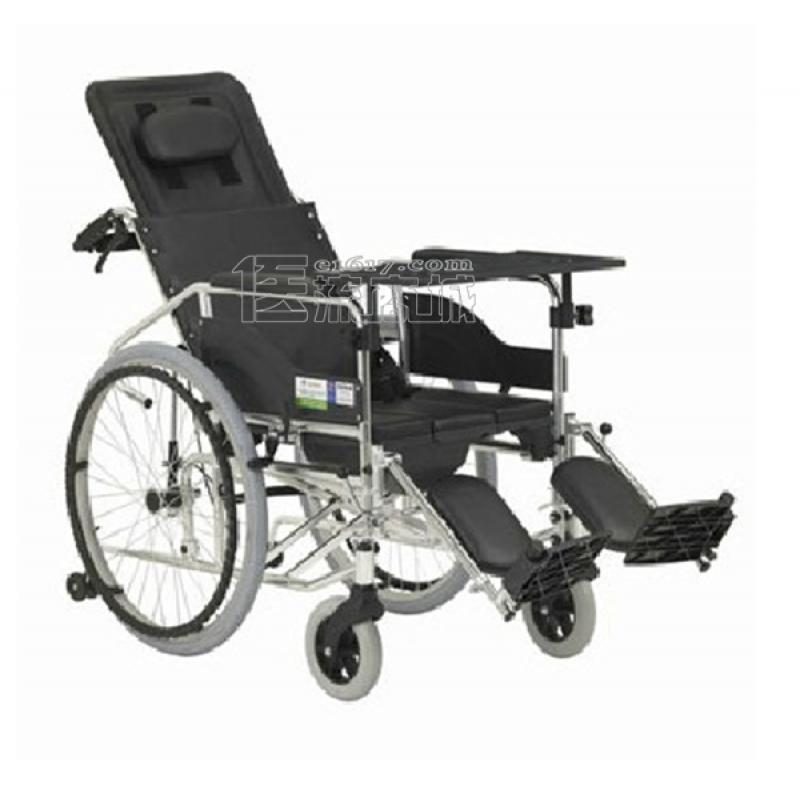互邦HBL10-BFQ16轮椅 高靠背可全倾 带防倾轮 带便