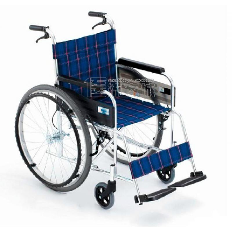 MIKI三贵MPT-47L轮椅 航太铝合金 免充气 经典系列