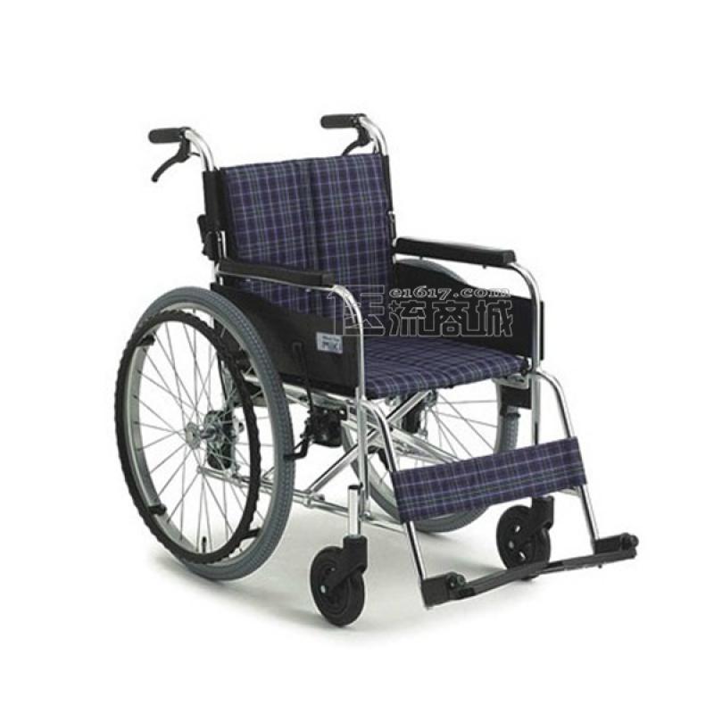 MIKI三贵MUT-43JD轮椅 航太铝合金 免充气 双层背