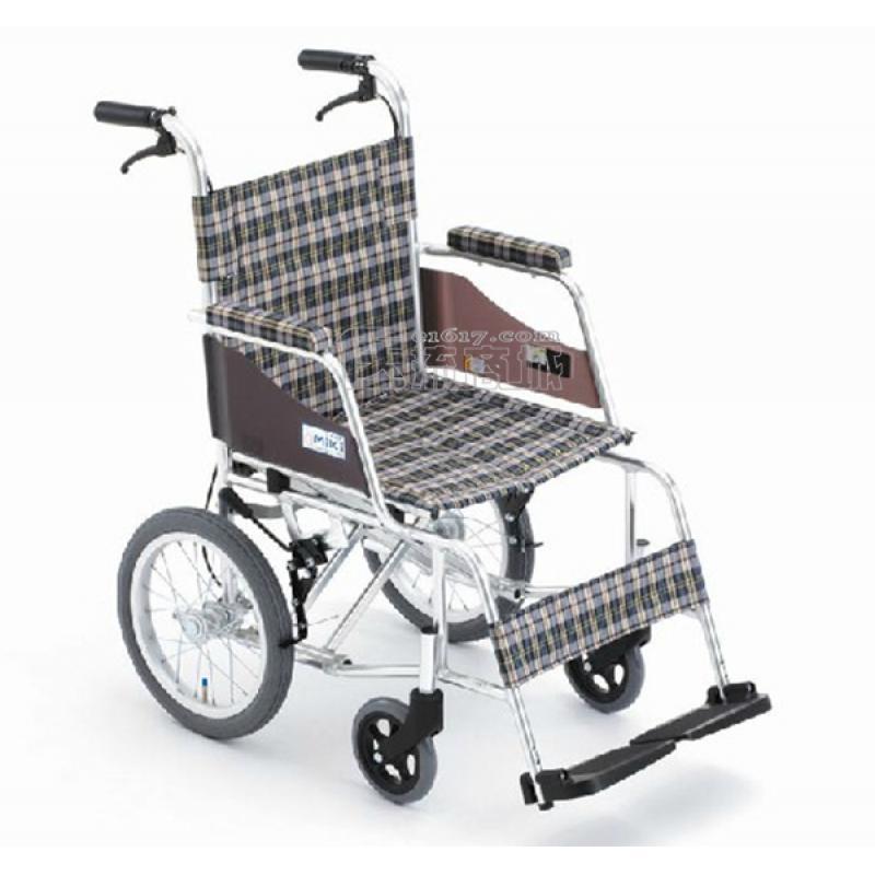 MIKI三贵MOCC-43L轮椅 航太铝合金 免充气 超轻量