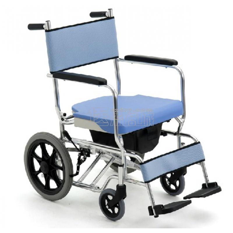 MIKI三贵MOCC-43轮椅 带便桶 航太合金 免充气胎