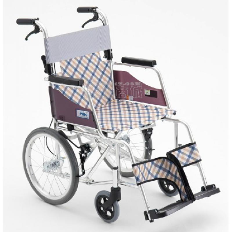 MIKI三贵MOCC-43JL轮椅 航太铝合金 免充气 超轻
