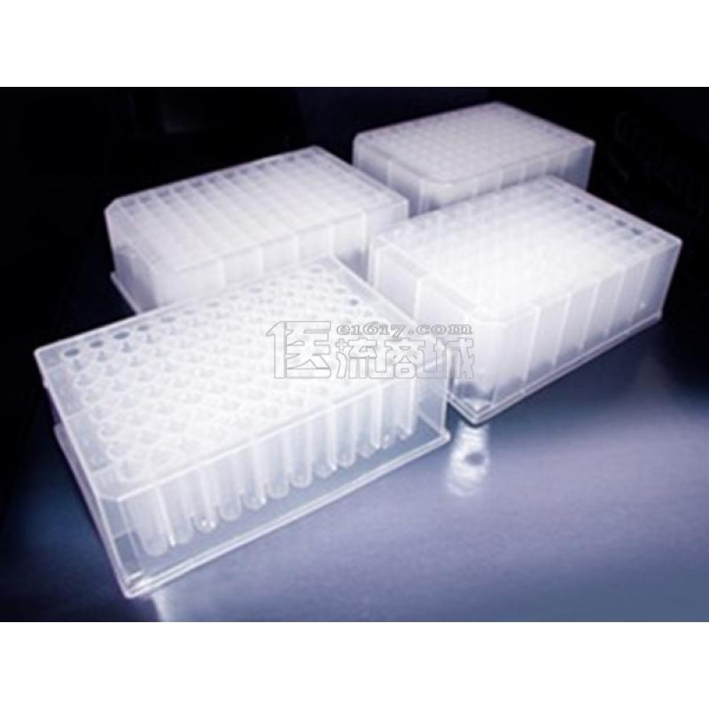 爱思进 96孔透明深孔板 2ml 方孔 25 Plates/箱