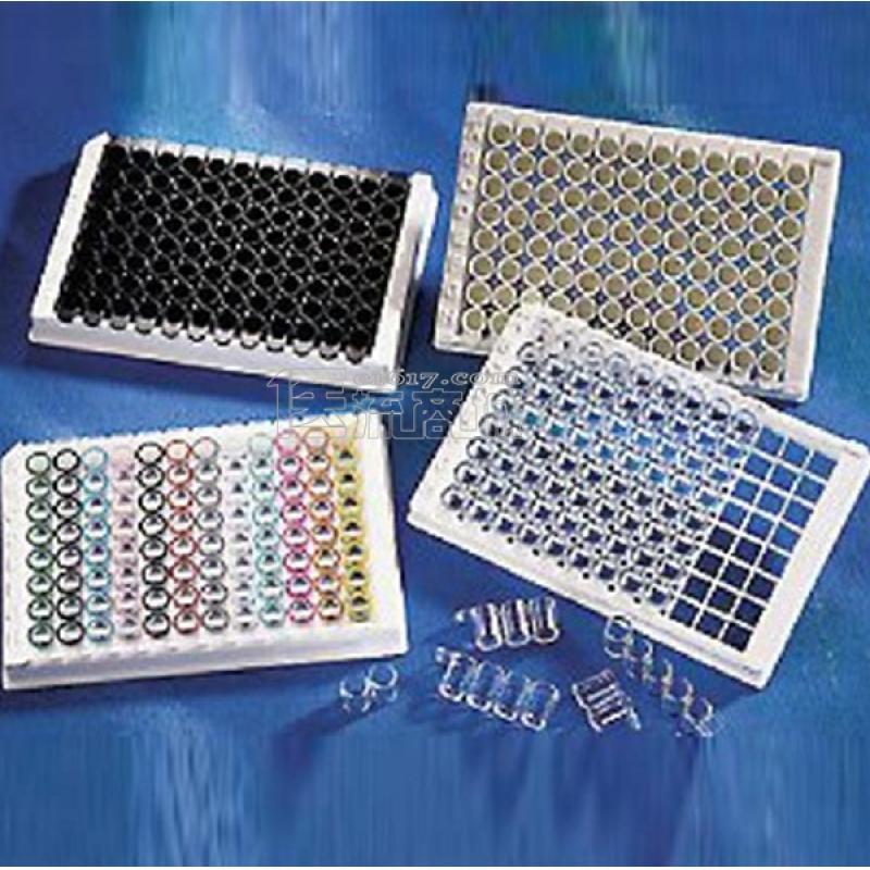 康宁Corning 96孔不可拆酶标板 透明 平底 高结合 带盖 灭菌 散装 20块/包 3361