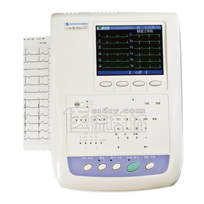 日本光电 ECG-1350P十二道5.7寸液晶显示自动分析心
