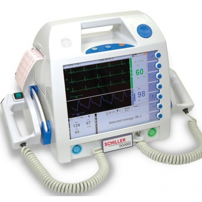 瑞士席勒DG5000除颤监护仪(除颤监护+起博+血氧+无创血压+AED)