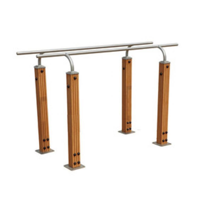 塑木双杠-小区健身器材