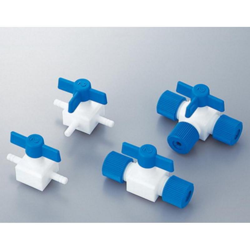 氟树脂接头氟树脂制龙头(插止)COCK PTFEフッ素樹脂製コック
