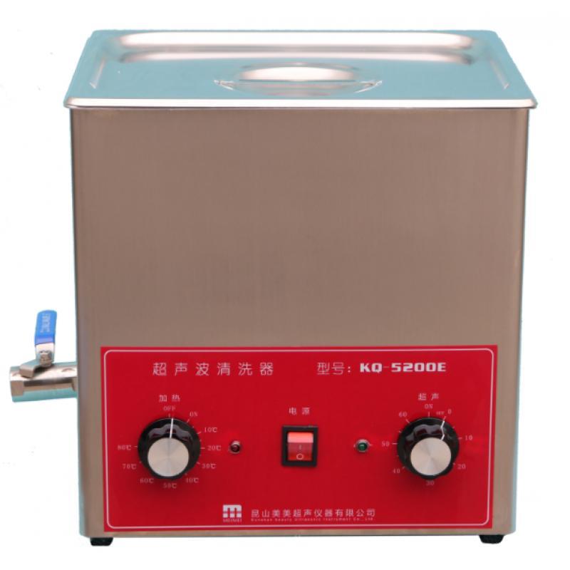 昆山美美超声波清洗器 KQ5200E 有不锈钢网架,有降音盖