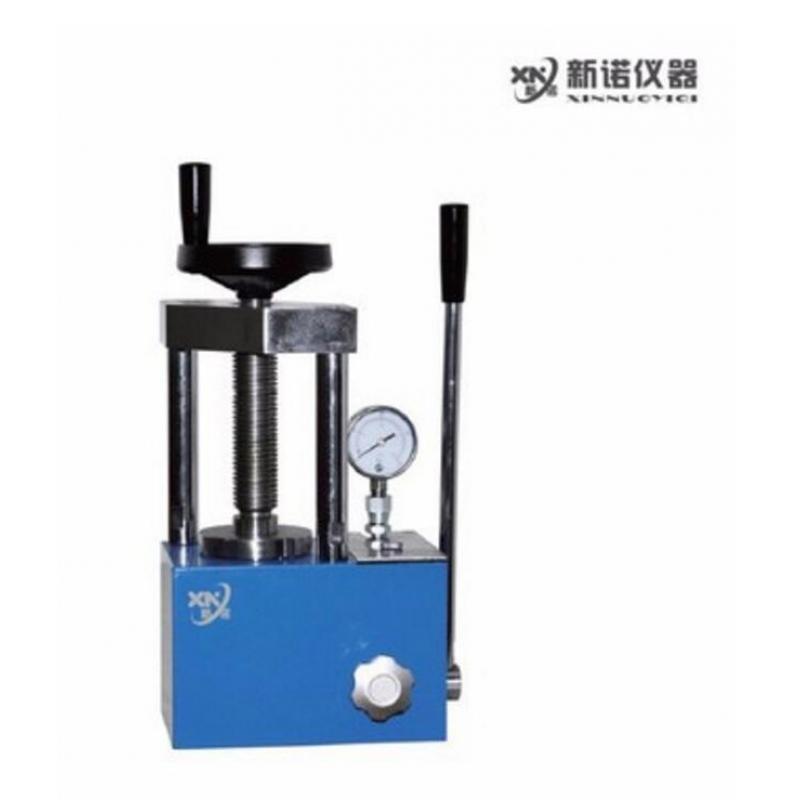 新诺 实验室压片机  SYP-3B手动粉末压片机 3吨小型油压机 两柱