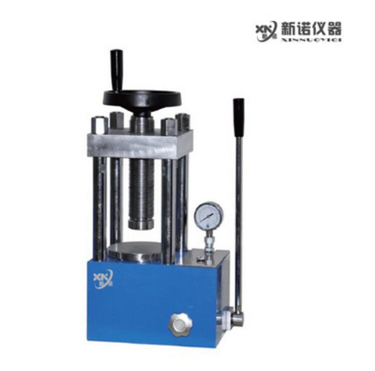 新诺 实验室压片机 SYP-15B手动粉末压片机  15吨 两柱压片机