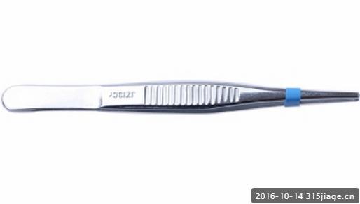 GRAEFE 1x2齿组织镊-直/2.0mm宽/16cm