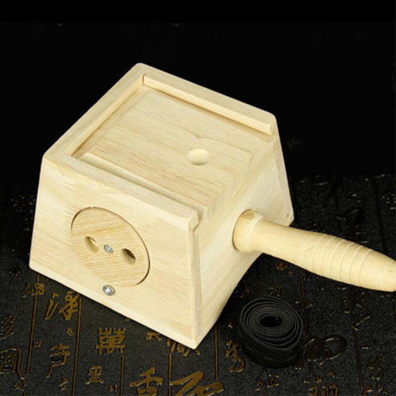 之和御艾橡木单孔艾灸盒艾条艾柱多柱实木制随身灸家用温灸仪器具