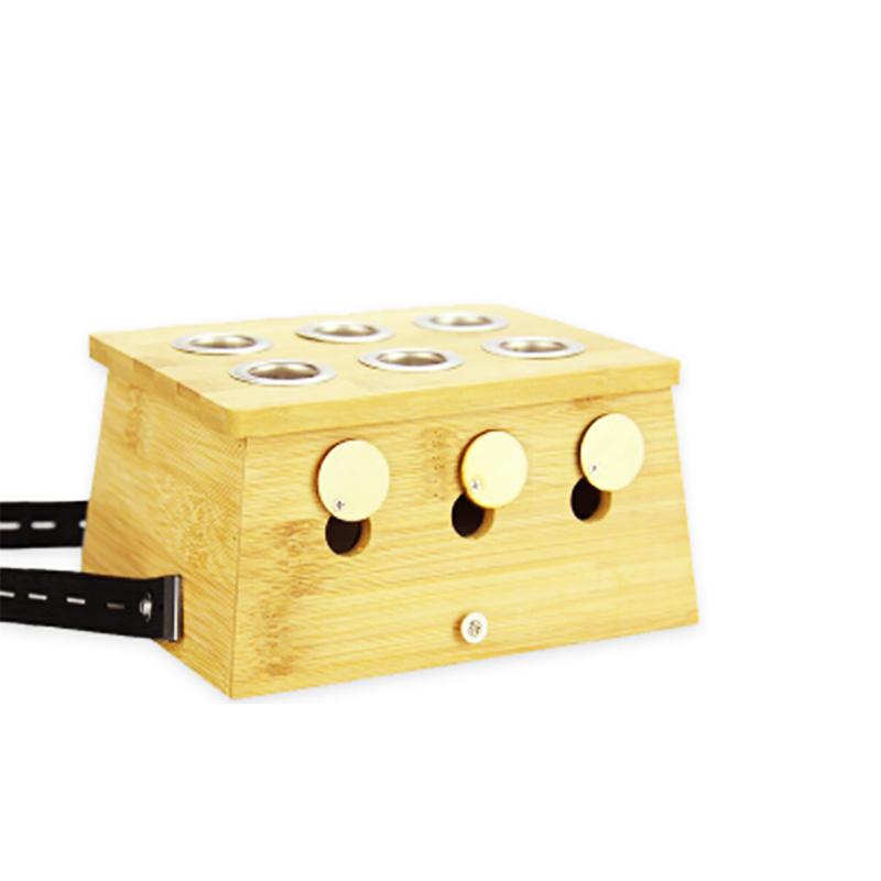 之和御艾单孔实木制艾灸盒6柱艾条艾柱盒家用随身灸温灸器具橡木