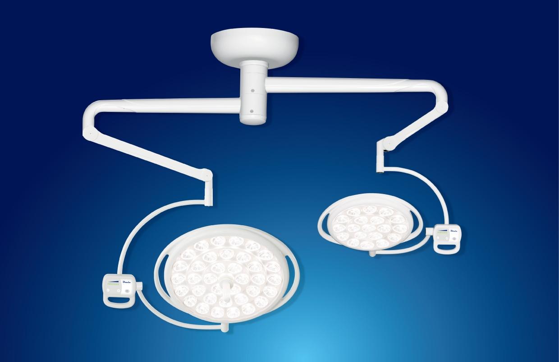吊顶式70cm+50cm双灯头LED无影灯 LEDTECH-7050