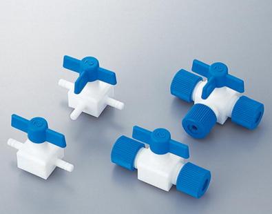 氟树脂接头氟树脂制龙头(插止)COCK PTFEフッ素樹脂製