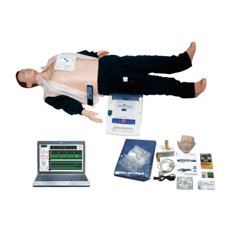 电脑心肺复苏、AED除颤仪模拟人(计算机控制,二合一)