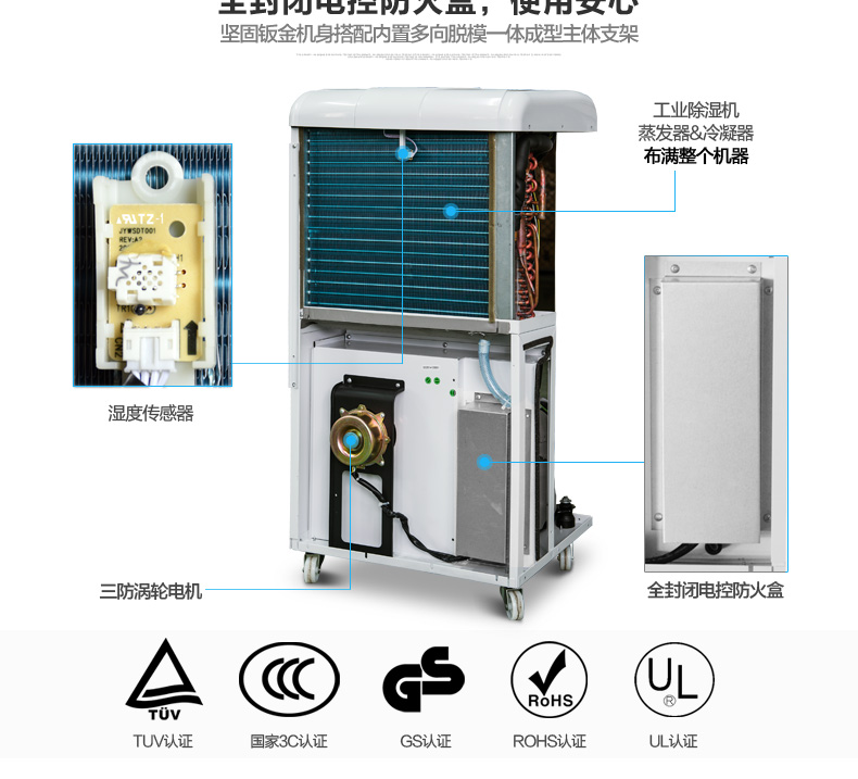 德业冷库低温除湿机DY-6138EB适用2-8度低温环境(质保五年)厂家直销